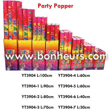 New Novelty Toy Paper Flower Color Spray Tube Party Popper
