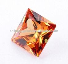 pink square shaped cz stone