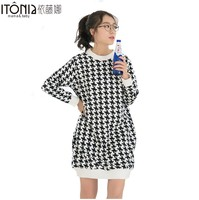 maternity life style dress elastic Long Cotton Tee Dress