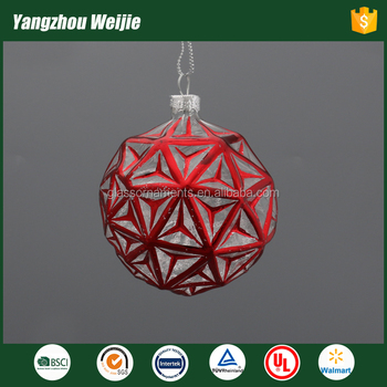 2017 red glass baubles products christmas ornament