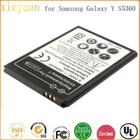 Factory direct price 3.7v li-ion Battery for Samsung Galaxy Y/ S5360