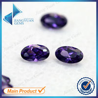 synthetic cz gems machine cut amethyst carving stones