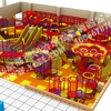 colorful climbing nets indoor playground