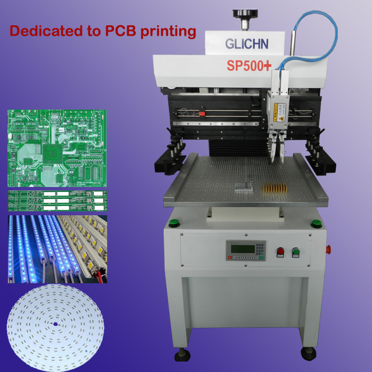 semi auto solder paste screen printing machine/smt solder paste printing machine SP500