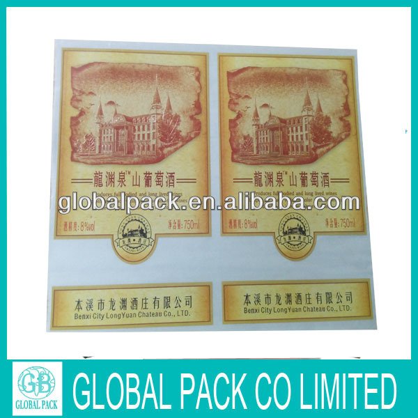 wholesale plastic wine bottle label header bag with cheap price