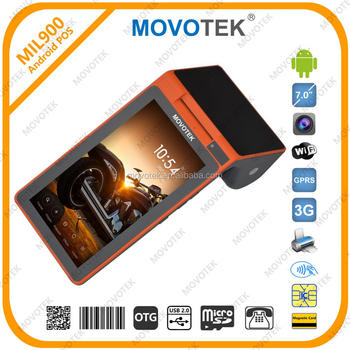 Movotek android thermal printer pos printer with QR Code Scanner and NFC Card Reader
