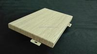 wooden color Aluminum single panel for exterior wall cladding by China supplier
