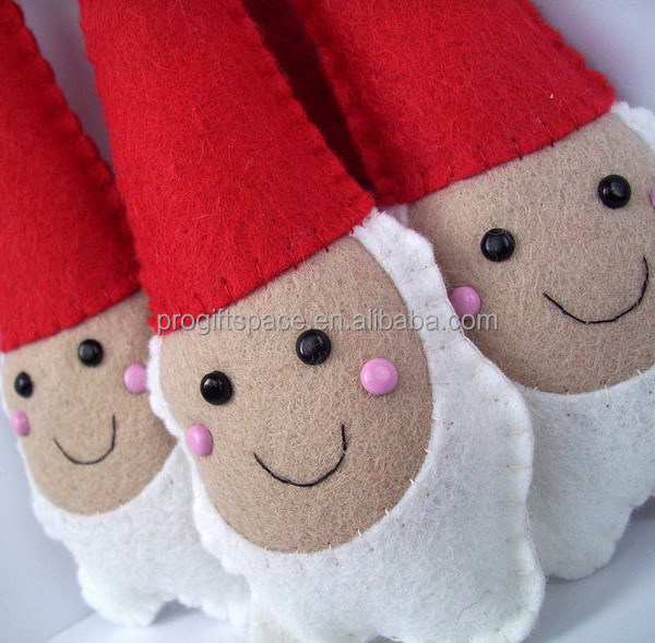 2017 hot eco handmade polyester felt wholesale dolls Christmas decorations heads inflatables Christmas father made in China