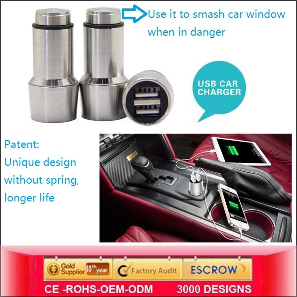 Sustyle SU-C2 Dual Usb Car Charger Smart Phone <strong>mobile</strong> usb charger cable