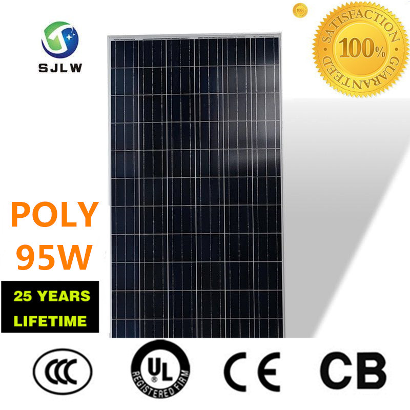 the lowest price CE polycrystalline silicon material 95w solar panel 95watt poly cells pv module in Kuwait market