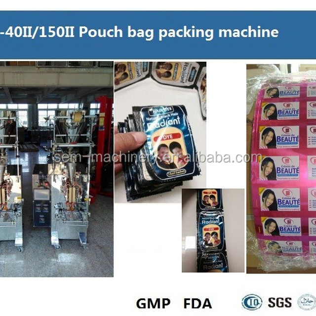 FFS body Lotion sachet packing machine cosmetic pouch bag forming filling sealing machine