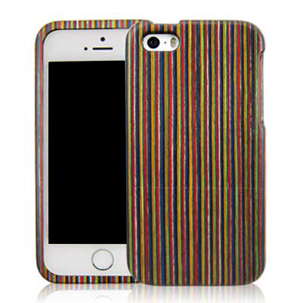 Rainbow wooden case for iPhone 5, durable use mobile phone shell good design back cover