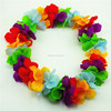 Fashion decorative artificial hawaiian lei flower head heart wreath WTH-9002