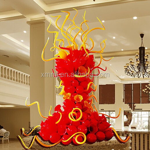 Modern hotel project decorative large indoor glass sculptures