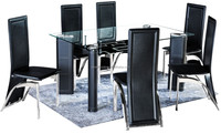Cheap Small Cbm KD 6 Seaters Modern Dining Room Table Home Glass Dining Table Set