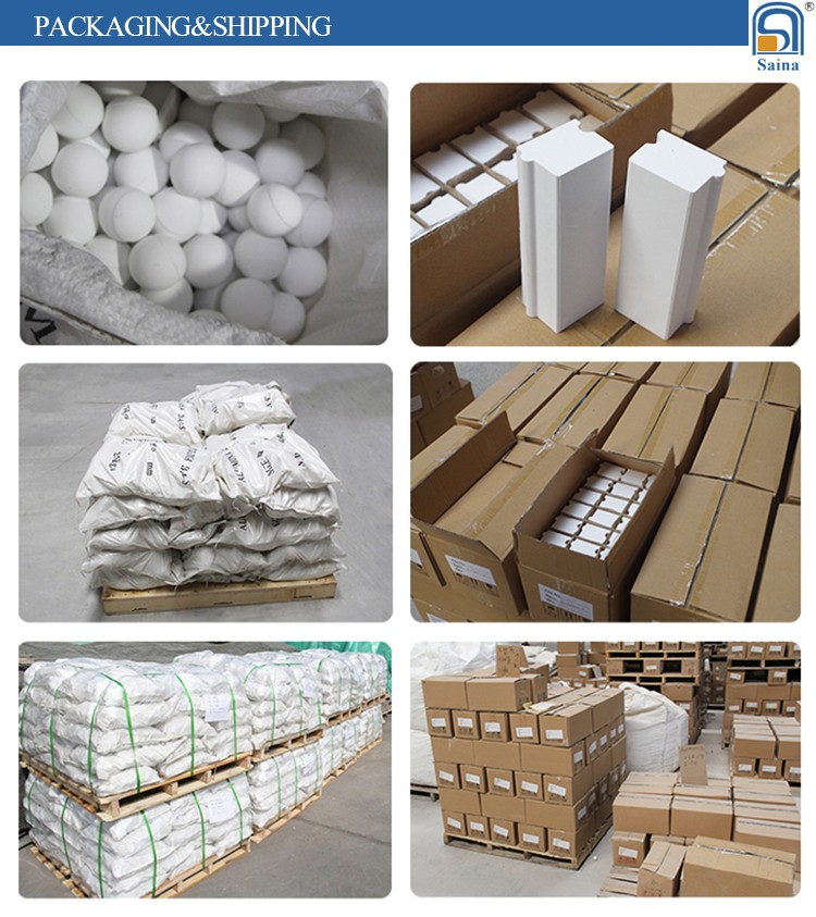 high wear resisitance alumina oxide lining ceramic bricks