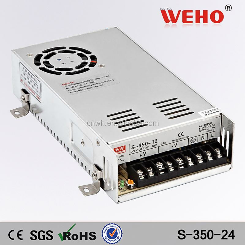 High quality 350w 24v smps 15amp power supply