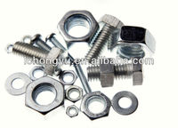 hot selling carbon steel din933 and din934 different types nuts bolts