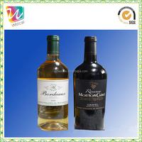 OEM beverage sticker label printing wine bottle label