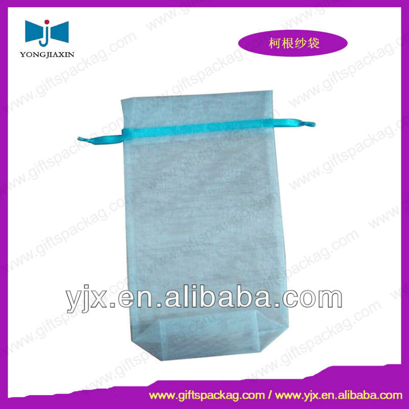 Promotional Blue Organza Pouch Wedding