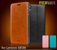 MOFi RUI Series PU Leather Smart Mobile Phone Flip Cover Cases for Lenovo A606