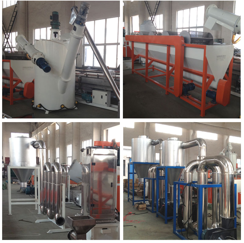 Jiangsu Suzhou Fosita cost of PET bottle PP PE waste plastic recycling machine,plastic bottle recycling machine