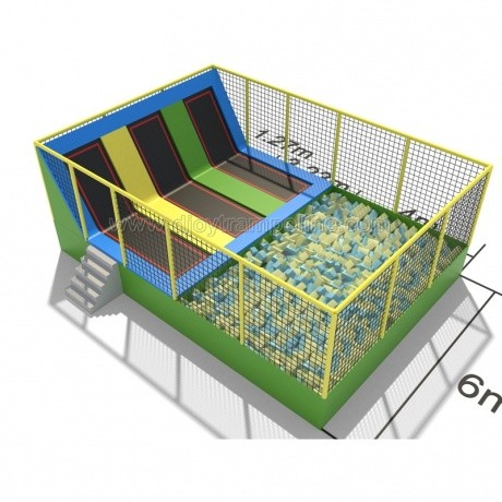 Cheap price trampoline park with foam pit indoor