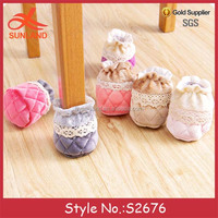 S2676 new thick cloth lace furniture floor table leg chair socks desk leg protectors for sale