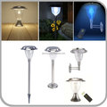 Stainless Steel Smart Mode High Power Solar Color Changing LED Lamp Post with Remote Controller for Outdoor (JL-8540)