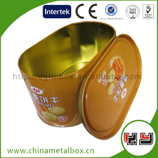 2015 Hot Sale Customized Designed New Style New Tin Boxes For Cookie Sweet