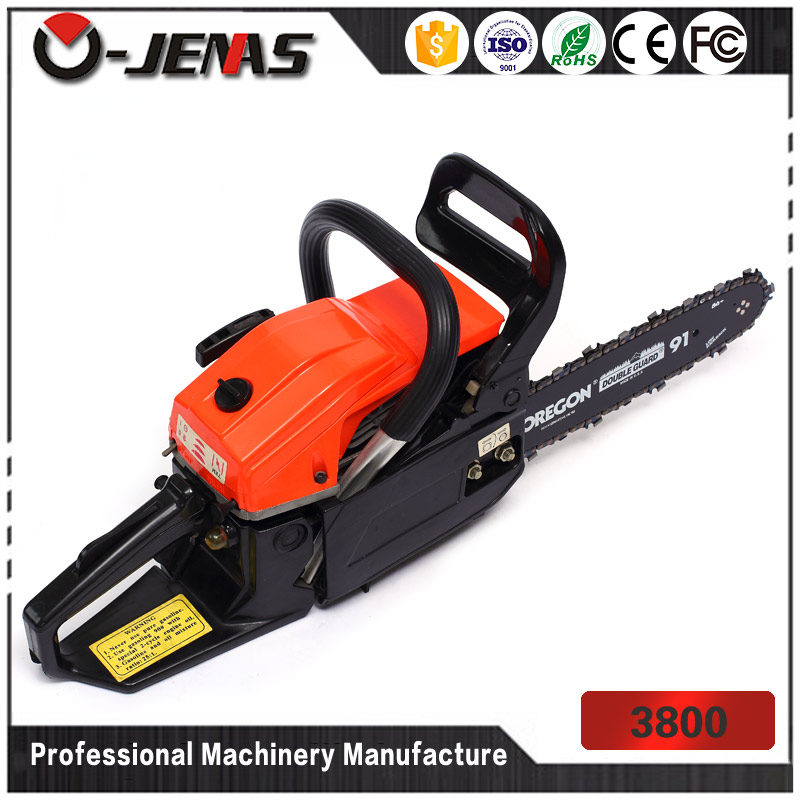 3800 38cc 0.52L 2-stroke cheap gasoline chain saw sharpener
