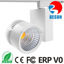 wholesale cheap commercial led track light 4 wires adaptor 30w cob led track light fixture