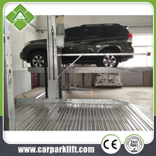 2 post car parking lift CE double hydraulic cylinders customized share colum