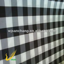 black and white check print taffeta fabric for men