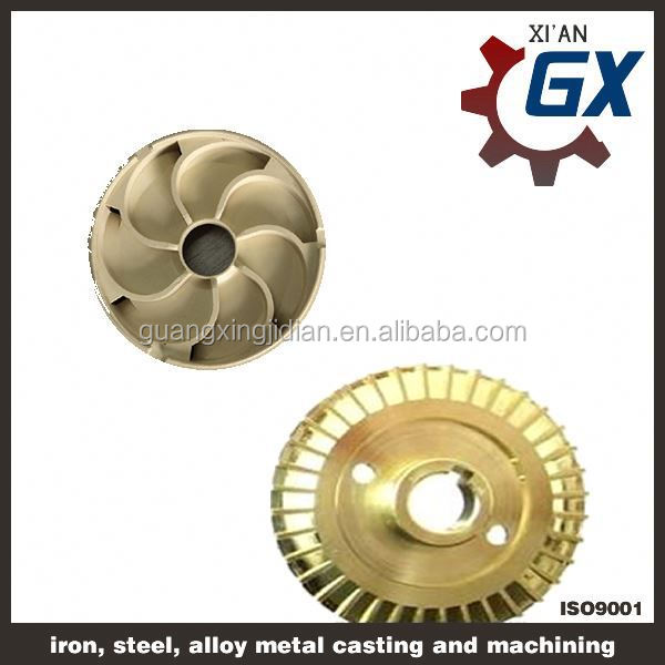 brass impeller for water and submersible pumps
