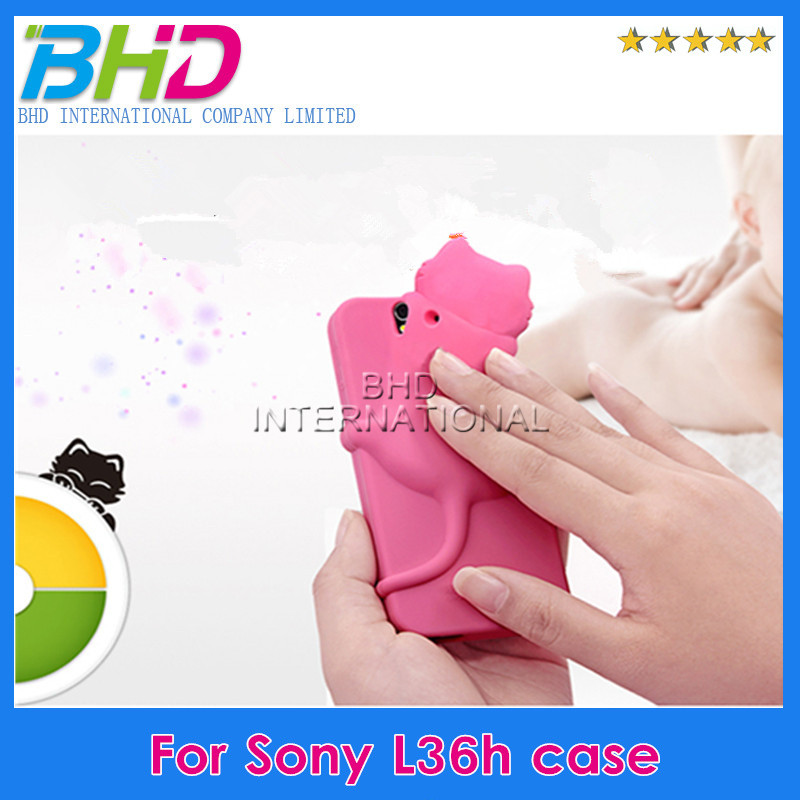 Brand new cheap price cartoon case for Sony L36h Xperia Z