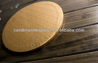 12mm corrugated round cake board, round cake drum
