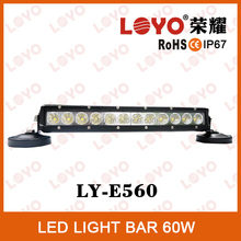 13.5'' Single row LED work light bar, 6750LM Flood/spot Offroad lamp, High power 60W LED off road truck light bars