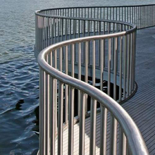 Rust prevention polished/brushed hollow stainless steel pipe railing