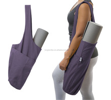 Yogi Exercise Mat Tote Bags Sling Carrier Multi Purpose Pockets zipper yoga mat bag