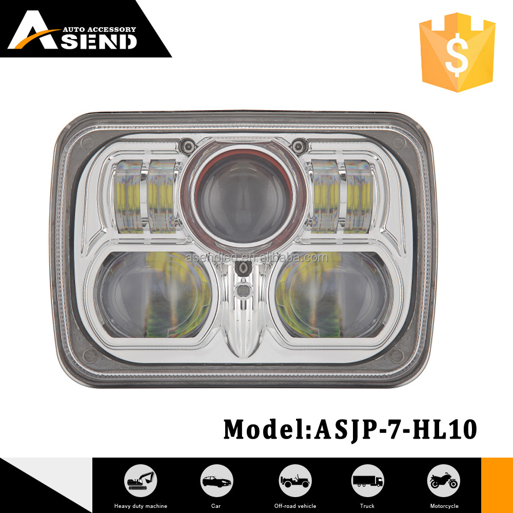 54w square 4WD waterproof led headlight Faro work light for 4x4 vehicle jeep