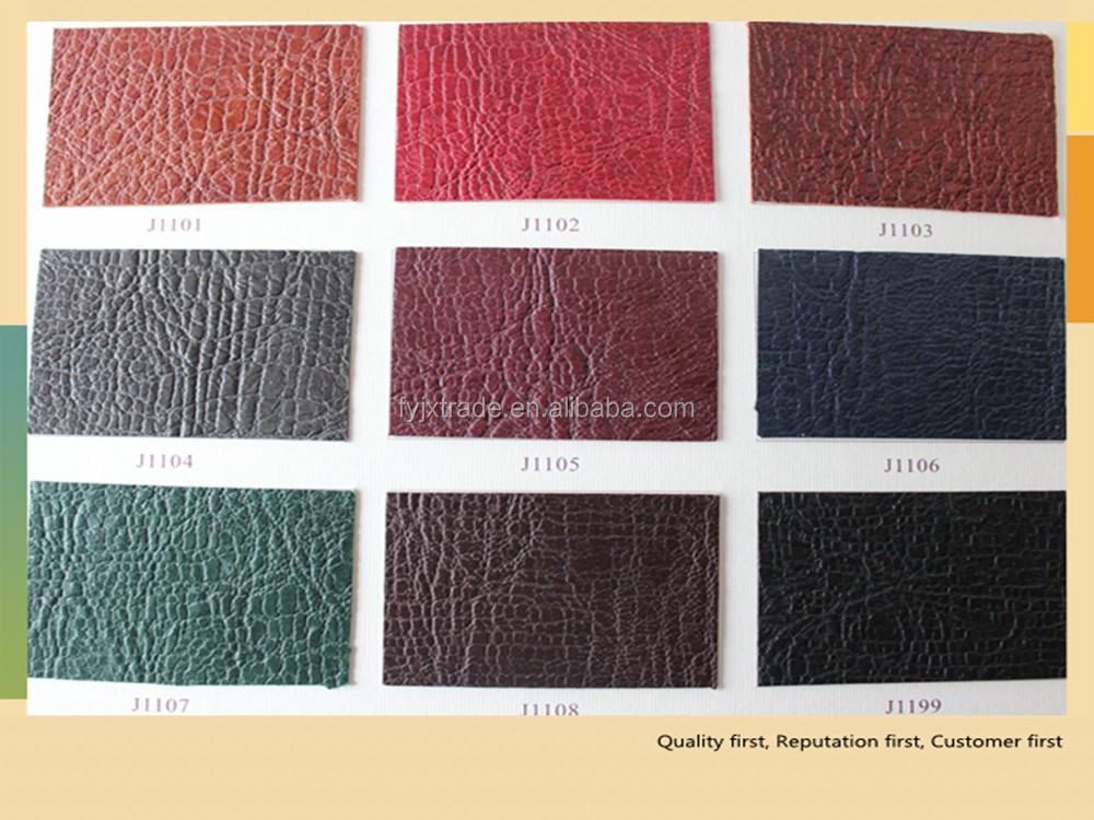Export Quality Cross Pattern Thermo Reactive Fake PU Leather For Notebook Cover
