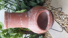 Terracotta mexican clay chiminea with customized size