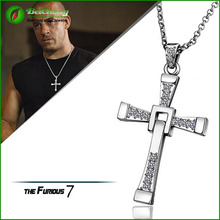 Stainless Steel 7 Cross Pendant Necklace Chain