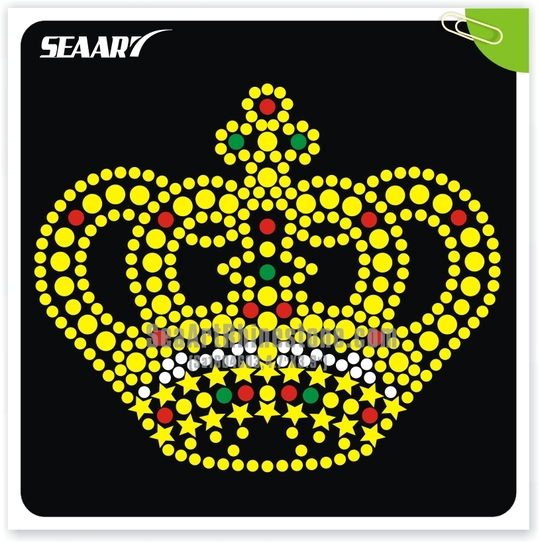 High quality cheap rhinestone transfer motif hot fix rhinestuds