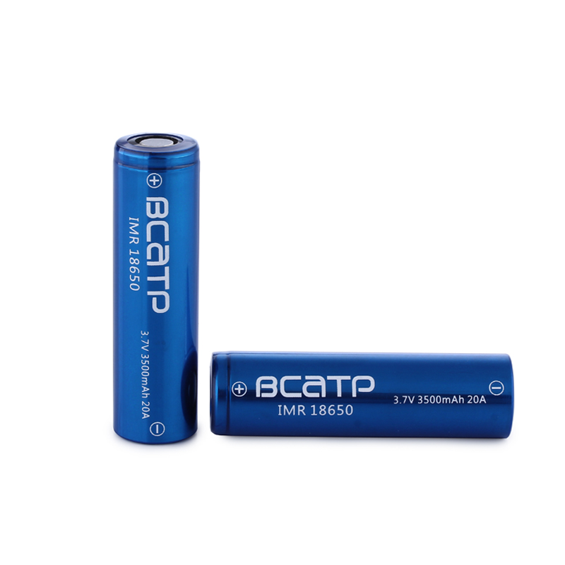 latest new design BCATP blue 3500mah 3.7V 18650 rechargeable li-ion battery for toy