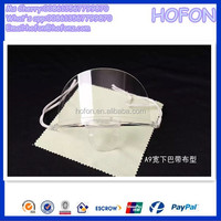 Sanitary food industry anti-fog face masks transparent film smile face masks with logo