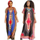 new fashion fat lady loose free size african kitenge dress designs