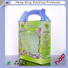 Fashion custom pvc box packaging with handle for Gift ,clear Packaging