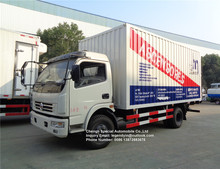 New produced completely customized Dongfeng 4x2 6 7 8 tons van cargo truck with lifting tail plate for sale in South America